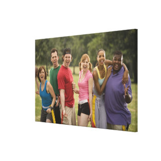 People smiling gallery wrapped canvas