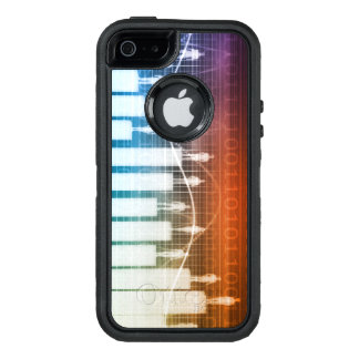 People Standing on a Bar Chart OtterBox Defender iPhone Case