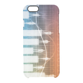 People Standing on a Bar Chart with Different Leve Clear iPhone 6/6S Case