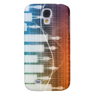 People Standing on a Bar Chart with Different Leve Galaxy S4 Covers