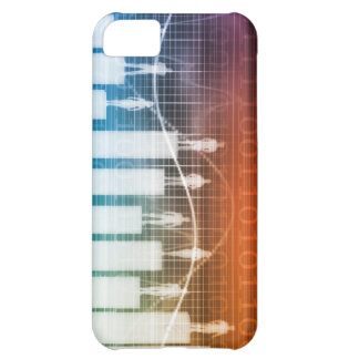 People Standing on a Bar Chart with Different Leve iPhone 5C Case