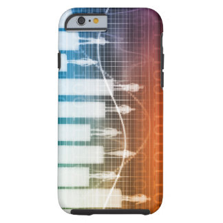 People Standing on a Bar Chart with Different Leve Tough iPhone 6 Case