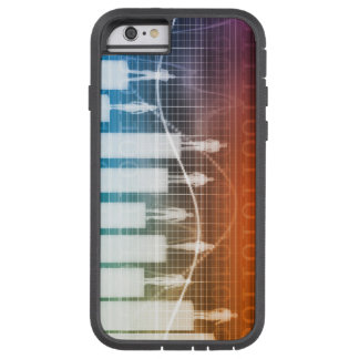 People Standing on a Bar Chart with Different Leve Tough Xtreme iPhone 6 Case