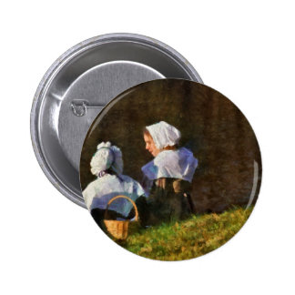People - The young maidens Pinback Buttons