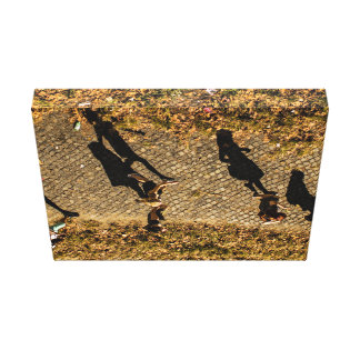 People Themed, Aerial View Of People Walking Makes Stretched Canvas Prints