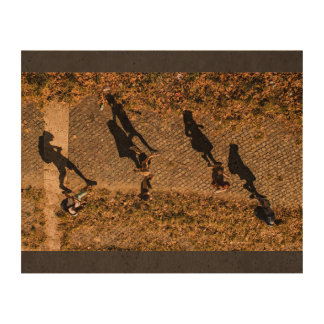 People Themed, Aerial View Of People Walking Makes Queork Photo Print