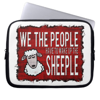 People Wake up Sheeple Laptop Computer Sleeve