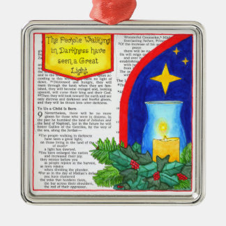 People Walking in Darkness Christmas Ornament