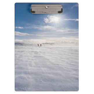 People walking over snow, Iceland Clipboard