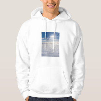 People walking over snow, Iceland Hoodie