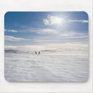 People walking over snow, Iceland Mouse Pad