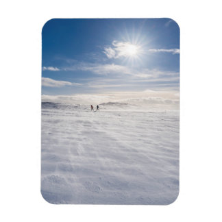 People walking over snow, Iceland Rectangular Photo Magnet