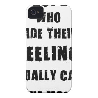 people who hide their feeling usually care most iPhone 4 Case-Mate case