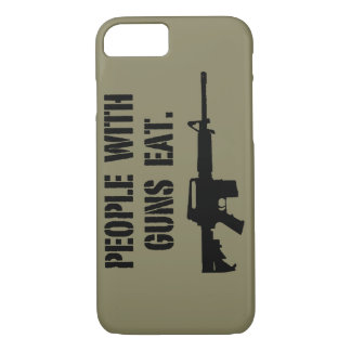 People With Guns Eat Phone Case