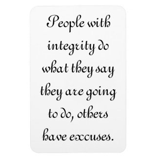 People with integrity rectangular photo magnet
