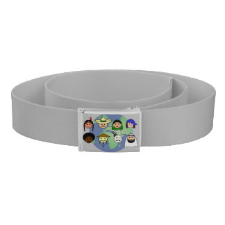 People worldwide anti racism pro diversity belt