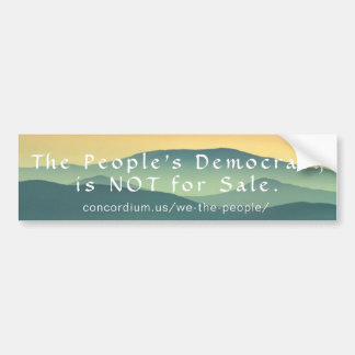 People's Democracy Bumper Sticker