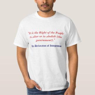 People's Right To Abolish Gov't Tshirts