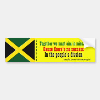 People's unity Jamaica  bumper stickers