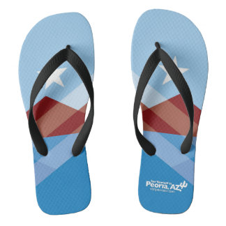 Peoria Flag Flip-Flops Thongs