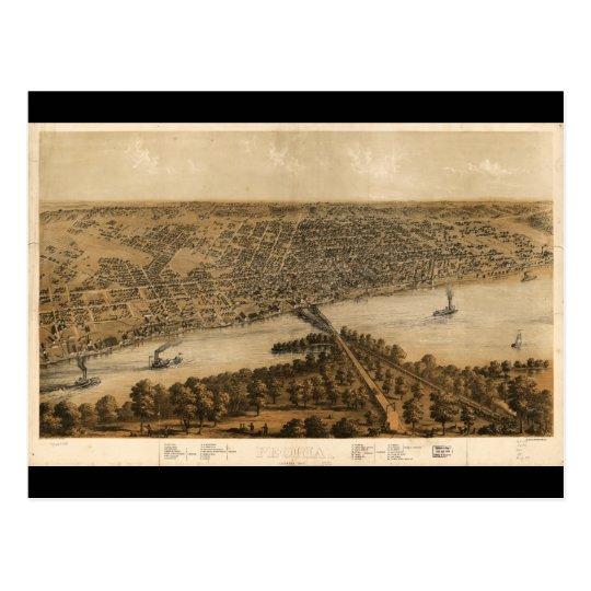 Peoria Illinois (1867) Postcard