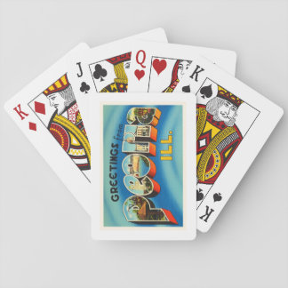 Peoria Illinois IL Old Vintage Travel Souvenir Playing Cards