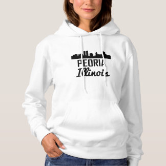 Peoria Illinois Skyline Hoodie