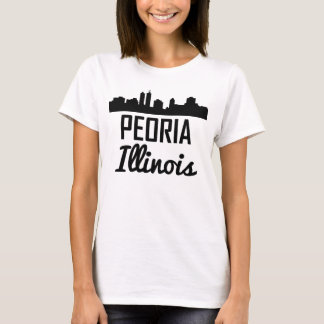 Peoria Illinois Skyline T-Shirt