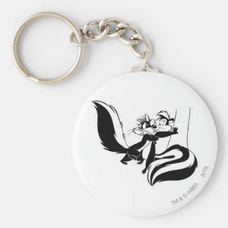 Pepe Le Pew and Penelope 2 Keychain