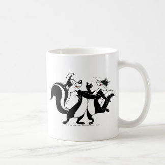 Pepe Le Pew and Penelope 3 Coffee Mug