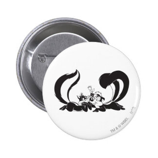 Pepe Le Pew and Penelope 4 6 Cm Round Badge