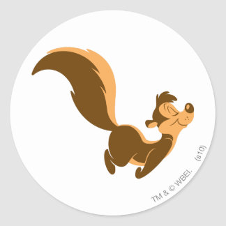 Pepe Le Pew - Flying Stench Classic Round Sticker