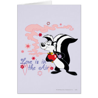 Pepe Le Pew Love is in the Air Greeting Card