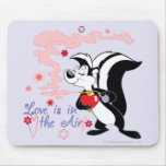 Pepe Le Pew Love is in the Air Mouse Pad