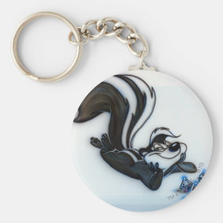 Pepe Le Pew Smug Basic Round Button Key Ring