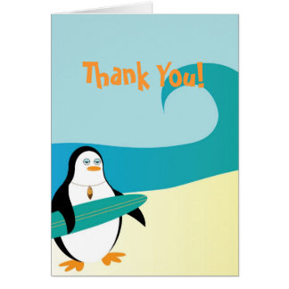 Pepe Surfer Penguin Thank You Card