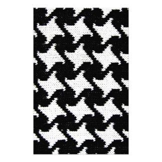 Pepita black and white personalised stationery