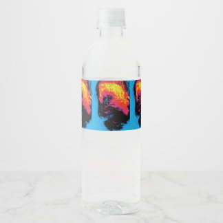 pepper and plastic silenced water bottle label