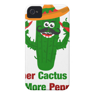Pepper Cactus Says Eat More Peppers iPhone 4 Covers