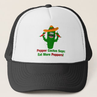 Pepper Cactus Says Eat More Peppers Trucker Hat