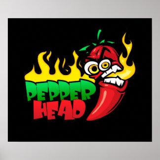 Pepper Head $24.95 Vector Art Wall Poster
