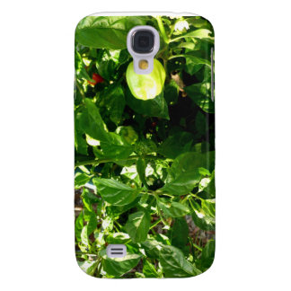 pepper plant with one green pepper samsung galaxy s4 cover