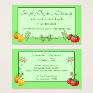 Pepper Tomato and Dill Chef Catering Gardner Business Card