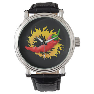 Pepper with flame watch