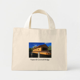 Pepperell MA New Covered Bridge Mini Tote Bag