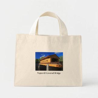 Pepperell MA New Covered Bridge Mini Tote Bag