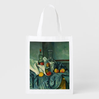 Peppermint Bottle (Paul Cezanne) Reusable Grocery Bag