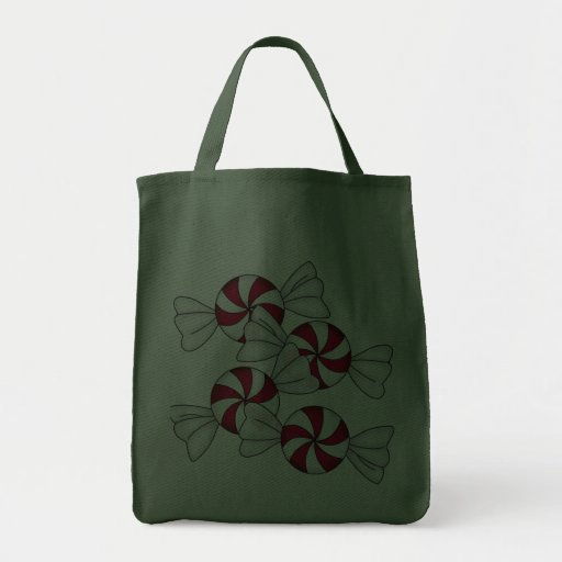 Peppermint Candies Canvas Bags