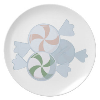 Peppermint Candies Plates