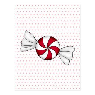 Peppermint Candies Postcard